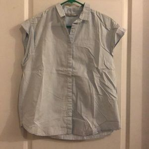 ZARA sleeveless button up. Large.